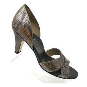 Anyi Lu heels, snakeskin, size 38.5